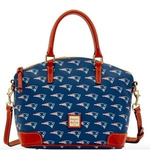 🎉NWT|Dooney & Bourke Satchel|NE Patriots